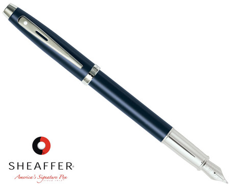Sheaffer 100 Matte Navy Blue Fountain Pen