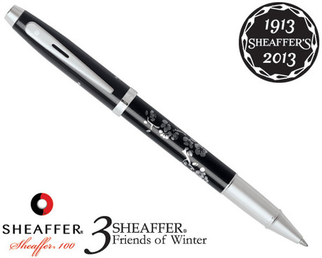 Sheaffer 100 3 Friends of Winter, Plum Design Rollerball Pen