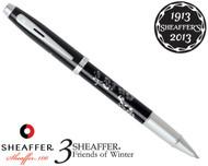 Sheaffer 100 3 Friends of Winter, Plum Design Rollerball Pen