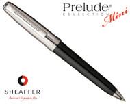 Sheaffer Prelude Mini Black Onyx Laque Barrel / Chased Palladium Cap N/T Ballpoint Pen