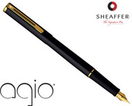 Sheaffer Agio Absolute Black Fountain Pen Medium