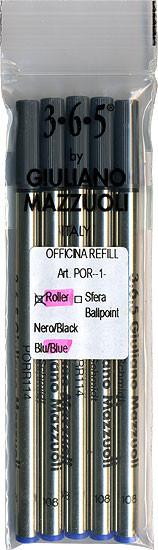 Giuliano Mazzuoli Officina Rollerball Refills Blue Medium 5 Pack