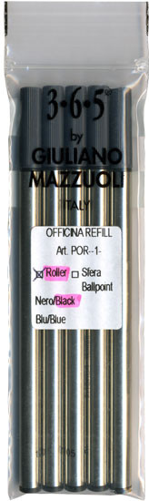 Giuliano Mazzuoli Officina Rollerball Refills Black Medium 5 Pack