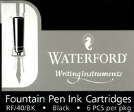 Waterford Black Fountain Pen Ink Cartridges