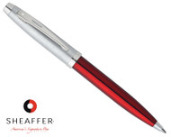 Sheaffer 100 Red Translucent Ballpoint Pen