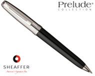 Sheaffer Prelude Black Onyx Lacquer / Palladium Plate Cap P/T Ballpoint Pen