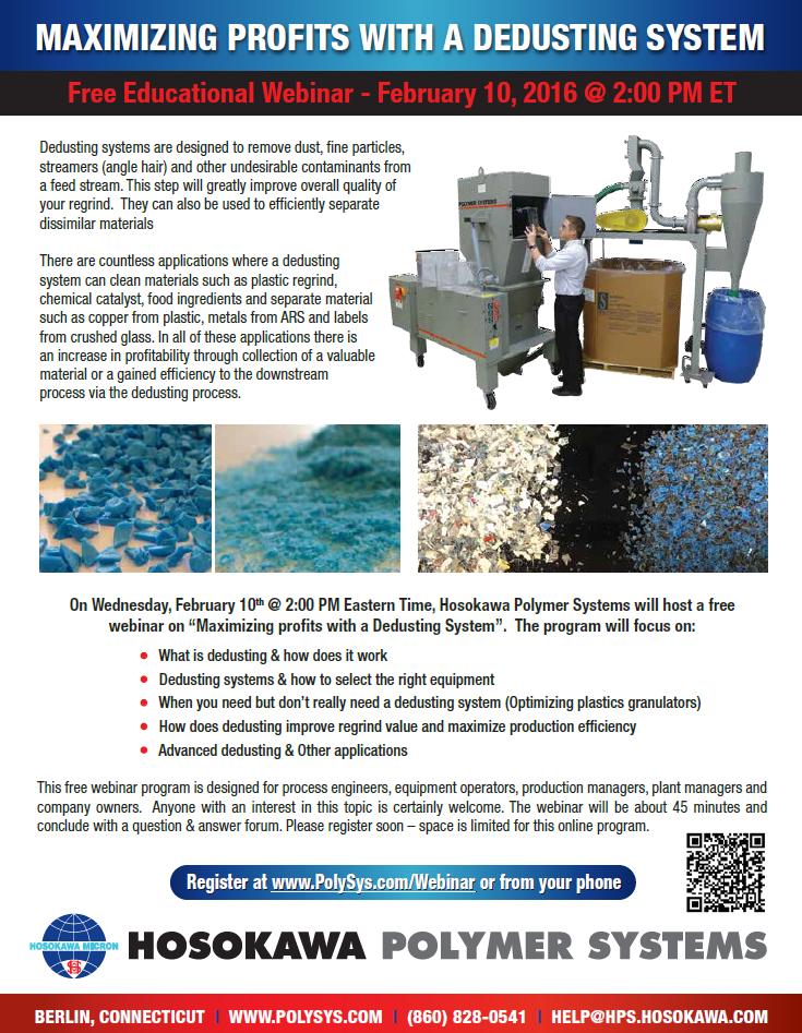 Polymer Systems Dedusting Webinar