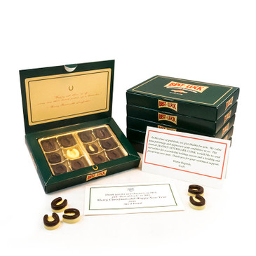 Horseshoe Chocolates gift box Collection of 12 and Card