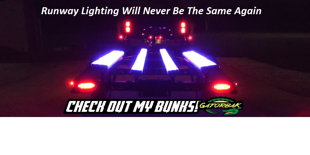 Gatorbak bunk covers are available in premium clear, allowing for LED-lit boat trailer bunks.