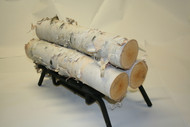 Set of 3 Large White Birch logs