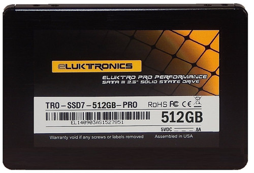 Eluktro Pro Performance 512GB SSD SATA III (6 GB/s) MLC 2.5-Inch 7mm Internal Solid State Drive