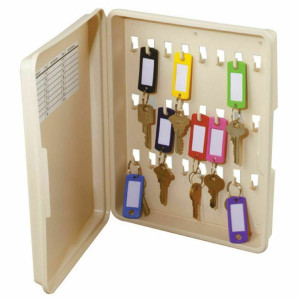 Hy-Ko KO302 Lockable Plastic Storage Cabinet holds Twenty-Four  Keys