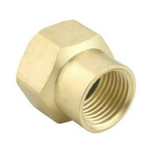 "Green Thumb  Brass Double Female 3/4"" Hose to 1/2"" Pipe Connector"