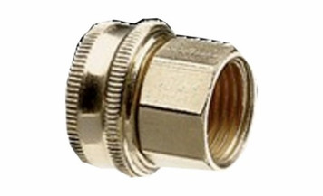 """Green Thumb Brass Double Female Swivel 3/4"""" Hose - 1/2"""" Pipe Connector"""