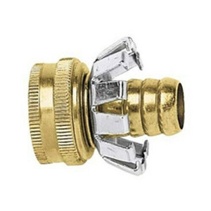 "Green Thumb C34FGT Brass Female End 3/4"" Hose Mender with Clencher"