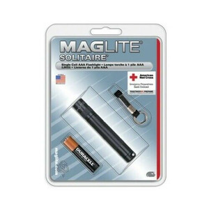 Maglite K3A016 Black AAA Mini Mag Flashlight w/ Lanyard