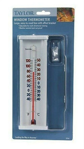 Taylor 5316 Large Aluminum Easy-to-Read Window Thermometer