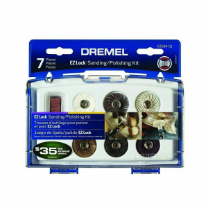 Dremel EZ684-01 Cleaning and Polishing 7 Piece Rotary Tool Accessory Set w/ Case