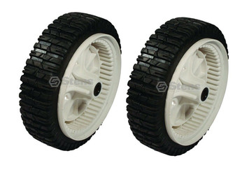 Stens Set of 2 Plastic Drive Wheels w/ Bar Tread 8x2.00 AYP 180773