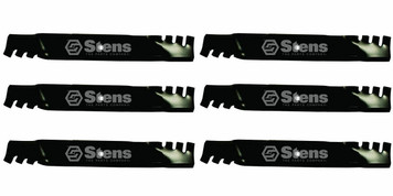 "Stens 302-244 6 PK Toothed Blades Grasshopper Woods 52"" Cut Lawn Mower Deck"