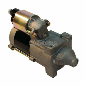 Stens 435-370 Mega-Fire Electric Starter replaces OEM starters for Briggs & Stratton: 808726, John Deere: LG808726. Solenoid included with hardware.