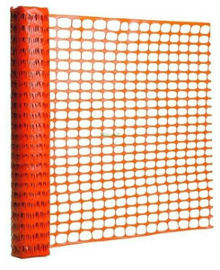 Gardian 14993-50 4' x 50' Orange PVC Safety Fence Mesh Crowd Control
