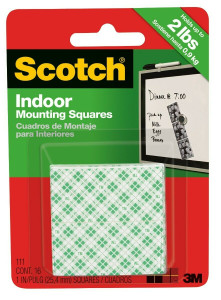 "3M 111 Scotch 1"" Mounting Squares"