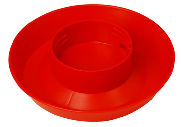 Miller Manufacturing 740 Red 1 Quart Screw-On Poultry Waterer Base