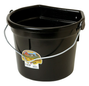 Miller Little Giant P24FBBLACK 22 QT. Flat Back Plastic Bucket w/Knob Bail