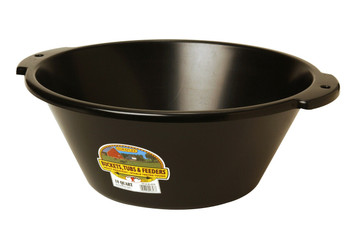 Little Giant FP18BLACK 18 Quart Plastic Feed Pan