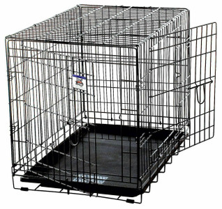 Pet Lodge WCLRG Large Wire Double Door Pet Crate