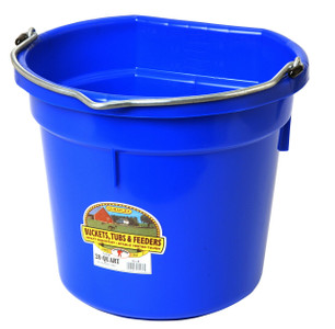 Little Giant P20FBBLUE 20 Qt. Flat Back Plastic Bucket
