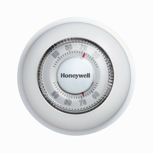 Honeywell CT87N Basic Non-Programmable Manual Round Thermometer