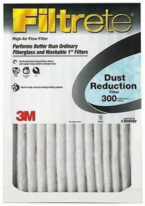 "6 Pack 3M Filtrete High Air Flo Dust Reducing 300 MPR 16x20 1"" Filters"