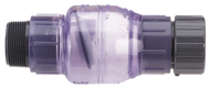 "Check Valve - Clear PVC Flapper - 1½"" FNPT X 1½"" MNPT"