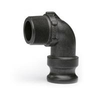 "Quick Clamp Adapter - 90º, 1½"" Male QC x 1½"" Male NPT – Polypropylene"