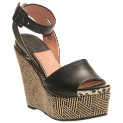 Bacio 61 Piglio, Womens Patterned Wedge High Heel Sandal