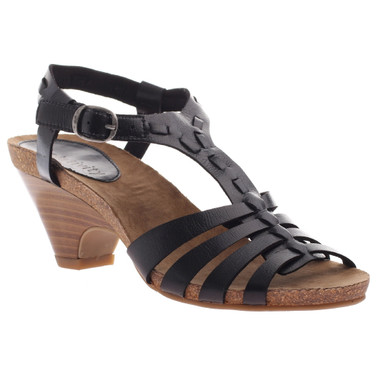 Axxiom Sit Back, High Heel T-Strap Sandal black