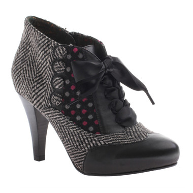 Poetic Licence Betsey's Buttons, Mix Tweed and polka dot, color Black