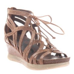 OTBT- Nomadic Sandal- Women's Platform Leather Gladiator Sandal with Wedge Heel.