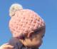 Berky Boo Finnley Hat- Knitted Pom Pom Hat- Pink