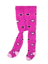 Berky Boo Bella Tights- Purple with Hearts