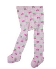 Berky Boo Bella Tights- Pink with Floral pattern allover
