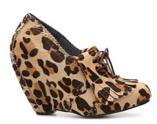 Irregular Choice I'm From the Future, Wedge Bootie in Leopard