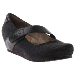 OTBT Salem Mary Jane Wedge- black fabric