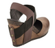 OTBT Rexburg- Women's Wedge with contrast elastic band- Brown Tan and black Elastic