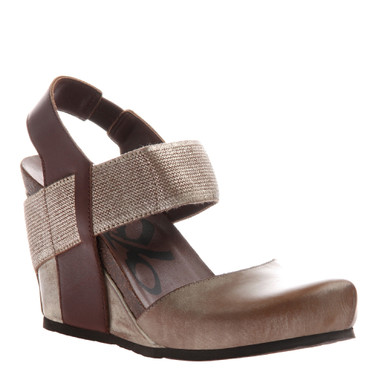 OTBT Rexburg- Women's Wedge with contrast elastic band- New Gold Color with same color elastic