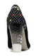 Women's Shoes, Irregular Choice Summer Bucket, High Heel Embroidered pump with lucite heel, Black