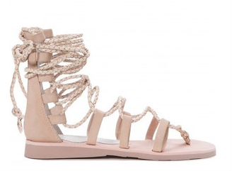 Women's Shoes, Jeffrey Campbell Hola, Lace Up Gladiator Sandal, Beige