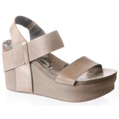 Women's Shoes, OTBT Bushnell, Open toe Wedge with elastic strap, New Bronze (Beige)